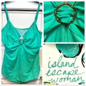 💥NWOT💥Mint Green Takini Top with Underwire